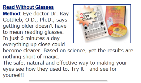 Read Without Glasses Improve Eyesight Naturally And Easily